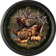 AmericanExpedition Elk Collage 16'' Wall Clock