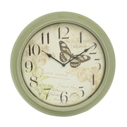 Decor Therapy Antique Butterfly 18'' Wall Clock