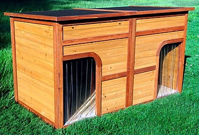 Merry Products Flat Top Duplex Dog House