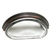 Richelieu 3'' Center Cup/Bin Pull; Brushed Oil Rubbed Bronze