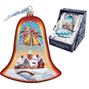 G Debrekht Holiday Housewarming Bell Glass Ornament