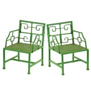 Winward Designs Deco Mini Metal Arm Chair (Set of 2)