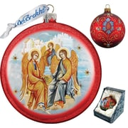 G Debrekht Holiday Trinity Glass Ornament