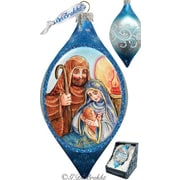 G Debrekht Holiday LED Nativity Glass Ornament Drop