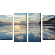 FramedCanvasArt 'Clouds In The Sand' by Chris Moyer 4 Piece Photographic Print on Wrapped Canvas Set