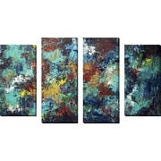 FramedCanvasArt 'Transcendence' by Hilary Winfield 4 Piece Painting Print on Wrapped Canvas Set