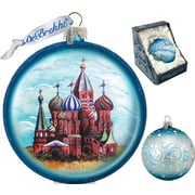 G Debrekht Holiday Saint Basil Cathedral Glass Ornament
