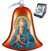 G Debrekht Holiday Mary Magdalena Bell Glass Ornament