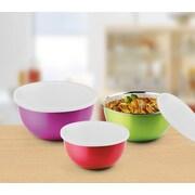 Bonita Microwave Safe Stainless Steel Bowls 6pc Set