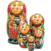 G Debrekht Russian 5 Piece Friends Forever Nested Doll Set
