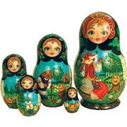 G Debrekht Russian 5 Piece Ginger Bread Nested Doll Set