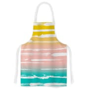 KESS InHouse Painted Stripes Peach by Anneline Sophia Artistic Apron