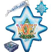 G Debrekht Holiday Noel Glass Ornament