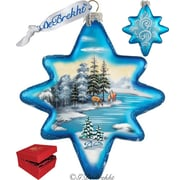 G Debrekht Holiday Limited Edition Peaceful Kingdom North Star Glass Ornament