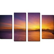 FramedCanvasArt 'Kakaako Sunset' by Cameron Brooks 4 Piece Photographic Print on Wrapped Canvas Set