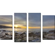 FramedCanvasArt 'Breaking Day' by Chris Moyer 4 Piece Photographic Print on Wrapped Canvas Set