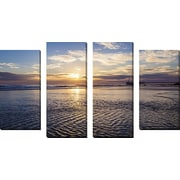 FramedCanvasArt 'Cool Ripples' by Chris Moyer 4 Piece Photographic Print on Wrapped Canvas Set