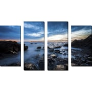 FramedCanvasArt 'Bacara Twilight' by Chris Moyer 4 Piece Photographic Print on Wrapped Canvas Set