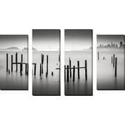 FramedCanvasArt 'Sausalito' by Dave MacVicar 4 Piece Photographic Print on Wrapped Canvas Set