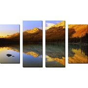 FramedCanvasArt 'Reflections' by DesignPics 4 Piece Photographic Print on Wrapped Canvas Set