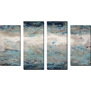 FramedCanvasArt 'Jupiter 2' by Hilary Winfield 4 Piece Painting Print on Wrapped Canvas Set