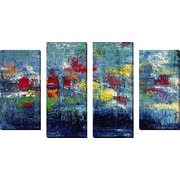 FramedCanvasArt 'Water Garden' by Hilary Winfield 4 Piece Painting Print on Wrapped Canvas Set