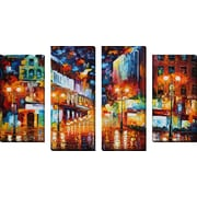 FramedCanvasArt 'Sparks Of Freedom' by Leonid Afremov 4 Piece Painting Print on Wrapped Canvas Set