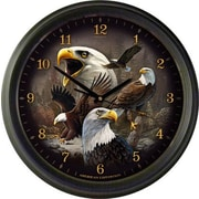 AmericanExpedition Bald Eagle Collage 16'' Wall Clock