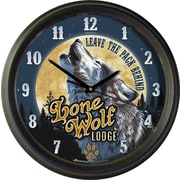 AmericanExpedition Lone Wolf Lodge 16'' Wall Clock