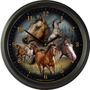 AmericanExpedition Mustang Collage 16'' Wall Clock