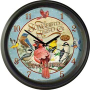AmericanExpedition Songbird Seed Co 16'' Wall Clock