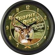 AmericanExpedition Trophy Bucks Hunting Lodge 16'' Wall Clock