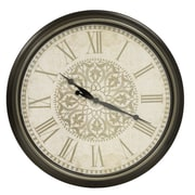 Decor Therapy Distressed Baroque 30'' Wall Clock