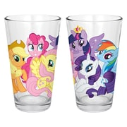 R Squared Hasbro My Little Pony Group Ponies 6 Piece Milk Glasses Set
