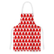 KESS InHouse Happy X-Mas by Gabriela Fuente Geometric Illustration Artistic Apron