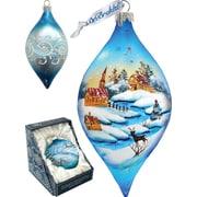 G Debrekht Holiday LED Winter Village Glass Ornament