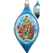 G Debrekht Holiday Merry Christmas Glass Ornament Drop
