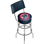 Trademark Global® Vinyl Padded Swivel Bar Stool With Back, Blue, Washington Wizards NBA