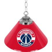 """Trademark Global® 14"""" Single Shade Bar Lamp, Red, Washington Wizards NBA"""