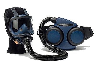 Sundstrom Safety PAPR Kit Complete with Tight-Fitting Full Face Mask, SR 500/200, Medium/Large, Blue (H06-0821) 1882700