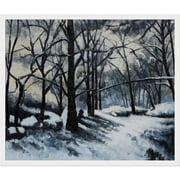 Tori Home Melting Snow, Fontainebleau by Paul Cezanne Framed Original Painting