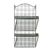 Woodland Imports Metal Wall Magazine Holder