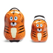 TrendyKid Travel Buddies 2 Piece Tiger Luggage Set