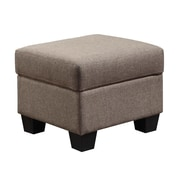 Emerald Home Furnishings Clearview Ottoman; Brown