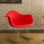 Wholesale Interiors Baxton Studio Charlie Rocking Chair in Red; Red