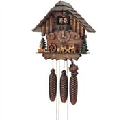 Schneider 12'' Cuckoo Clock with 2 Beer Drinkers and Dancing Couples