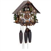 Schneider 12.5'' Chalet 8-Day Movement Cuckoo Clock with Beer Drinker