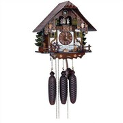 Schneider 12.5'' Chalet 8-Day Movement Cuckoo Clock with Wood Chopper