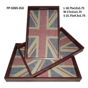 Cheungs Union Jack Rectangle Serving Tray (Set of 3)