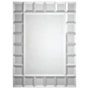Ren-Wil Wide Beveled Mirror with Mirrored Block Frame